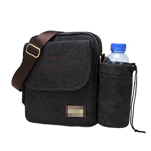 Mann Umhängetasche Rucksack Einzelne Schulterbeutel Multifunktions Stoff Stofftaschen Wirtschaft Freizeit Mode Retro Tasche Rucksack Black