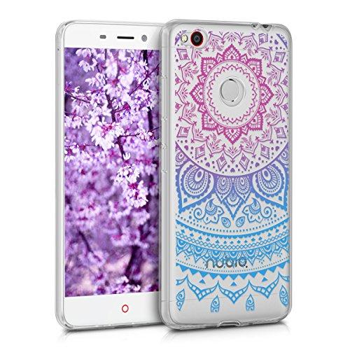 kwmobile ZTE Nubia N1 Hülle - Handyhülle für ZTE Nubia N1 - Handy Case in Blau Pink Transparent