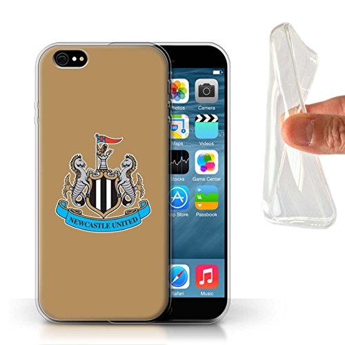 Officiel Newcastle United FC Coque / Etui Gel TPU pour Apple iPhone 6S / Couleur/Rouge Design / NUFC Crête Football Collection Couleur/Or