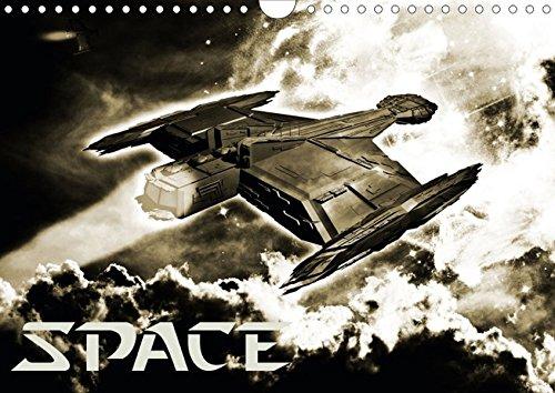 Space (Posterbuch DIN A4 quer): Fantastische Weltraum-Kompositionen und abenteuerliche Reisen in die Weiten des Alls. (Posterbuch, 14 Seiten) ... 2013] by MTB und Elrowiel, ExplodingArt.de