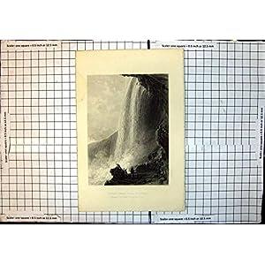 Antike Sande der Druck-PferdeSchuh-Fall-Niagara-Eingangs-Höhlen-T Allen R
