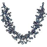 Valero Pearls - Collier de perles - Perles de culture d'eau douce - Argent sterling 925 - Bijoux de perles, bijoux en argent - 120314