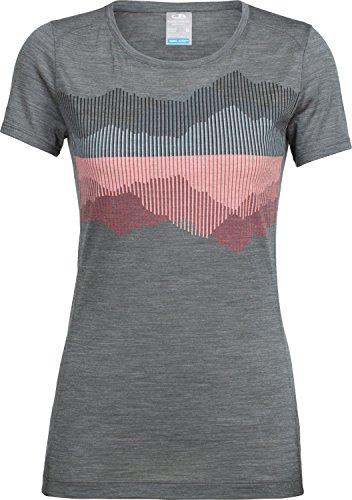 Icebreaker Damen Sphere SS Low Crewe Cook Reflected T-Shirt, Metal Hthr, S