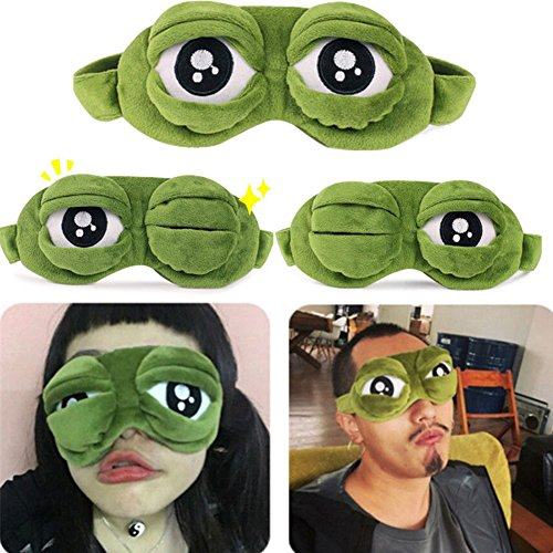 Augenmaske, lustige Frosch-Augenmaske, für Schlafruhe