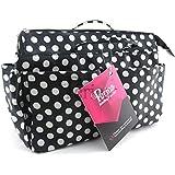 Periea - Organiseur de sac à main, 13 Compartiments - Lexy (Noir à pois blancs)