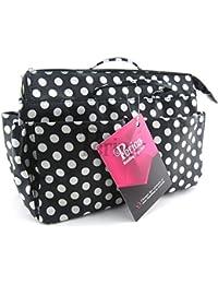 Periea sacs à main-organiseur noir punkten- lexy 13 compartiments blanc