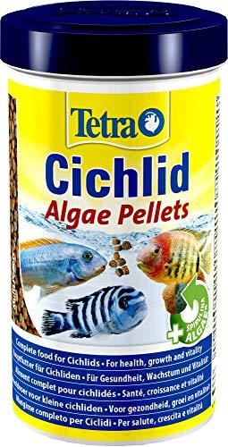 Tetra Cichlid Algae (Hauptfutter mit Spirulina Algen für die besonderen Ernährungsbedürfnisse von alles- und pflanzenfressenden Cichliden), 500 ml Dose -