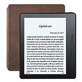 "E-reader Kindle Oasis con funda de carga de cuero nogal, pantalla de 6"" (15,2 cm) de alta resolución (300 ppp) con luz integrada, wifi"
