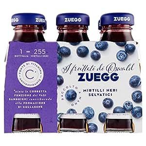 Zuegg - Nettare Mirtilli Neri Selvatici, Contiene Vitamina C Antiossidante, 125 Ml X 6