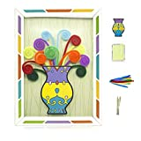 MOREFUN Cure Pipes DIY Bouquet avec Papier Cadre Photo, Créatif Éducation Jouets Travaux Manuels Enfants...