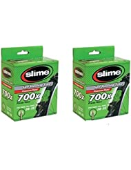 2 x Slime Bike Inner Tubes 700 x 28-32c Presta Valves - Slime Filled To Instantly Seal And Repair Punctures by Slime