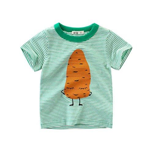 Hirolan Säugling Baby Babykleidung Kinder Sweatshirts Jungen Blusen Mädchen T-Shirts Karikatur Drucken Oberteile Outfits Kleider Weste Neugeborene Kleidung Tops (90, Grün)