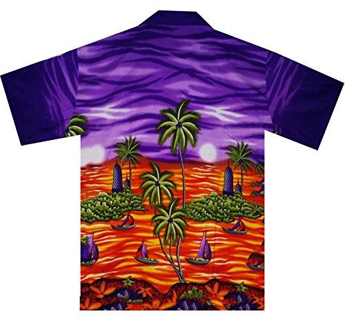 Funky Chemise Hawaienne XL-XXL pourpre