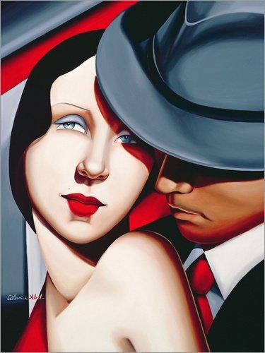 Holzbild 120 x 160 cm: ADAM & EVE, Gangster Study von Catherine ABEL/Bridgeman Images