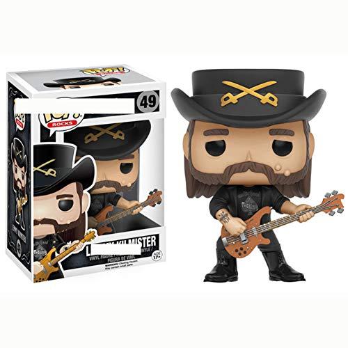 MeterMall Adorno de muñeca Funko Pop Rocks Lemmy Kilmister Figura de acción Modelo 1 # Juguetes