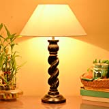 Homesake Classic Black Twister Table Lamp With White Shade