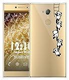 Coque Pour Sony Xperia XA2 5,2 pouces, Sunrive Silicone Étui Housse Protecteur souple TPU Gel transparent Back Case(tpu Panda 1)+ STYLET OFFERTS