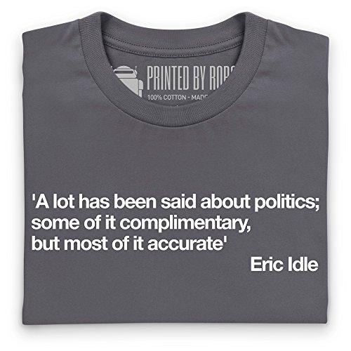 A Lot Said About Politics T-shirt, Uomo Antracite