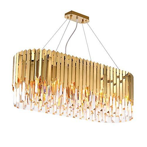 Araña, araña de techo Araña araña lámpara de cristal moderna lámpara de cristal de acero inoxidable dorado lámpara de araña de cristal lámpara de dormitorio adecuada para sala de estar, dormitorio, ha