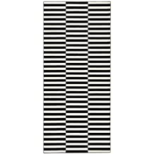 HANSE Home Design Velours Teppich Kurzflor Panel, Polypropylen, Schwarz/Creme,  120 X