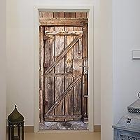 Papel Pintado Puerta Madera 86 x 200 cm Madera, de entrada, tableros, vintage, rústico Foto Mural Incluyendo Pegamento livingdecoration