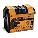 Xunzel solarlife de G5a + +, Off de Grid Solar LED Iluminación y stromerzeugung Kit, aluminio, 5W, Negro, 23x 42,3x 29cm