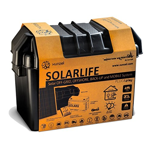Xunzel-SOLARLIFE-G5-A-off-grid-Solar-LED-Beleuchtung-und-stromerzeugung-Kit-Aluminium-5-W-schwarz-23-x-423-x-29-cm
