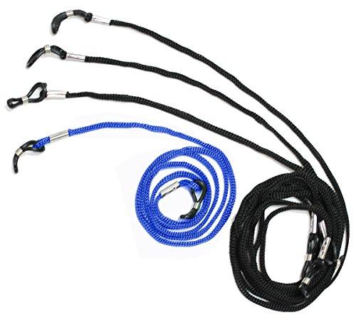 dy_mode Universal Brillenband Brillenkordel - 4er Pack - für Lesebrille Sportbrille Sonnenbrille 6 Farb Auswahl - BB002 (BB002-Blau)