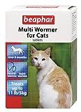 Beaphar Multiwormer para gatos 12 Tabletas (Paquete de 3)