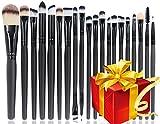 BEAKEY 20 + 1 set di pennelli trucco professionale Set di pennelli ombretto fondazione eyeliner polvere Liquid Cream Cosmetics Blending Tool con 1 Secret Gift