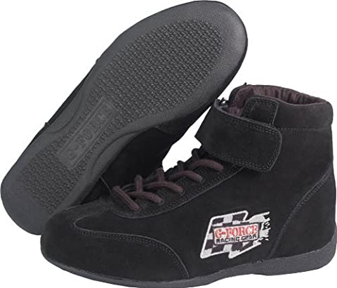 G-Force 0235110BK RaceGrip Black Size 110 Mid-Top Racing Shoes by G-FORCE Racing Gear