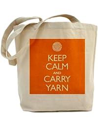 CafePress hilo–naranja Keep Calm And Carry Tote Bag–Natural gamuza de bolsa de lona bolsa, bolsa de la compra