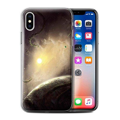 Offiziell Chris Cold Hülle / Gel TPU Case für Apple iPhone X/10 / Entfernten Stern Muster / Galaktische Welt Kollektion Entfernten Stern