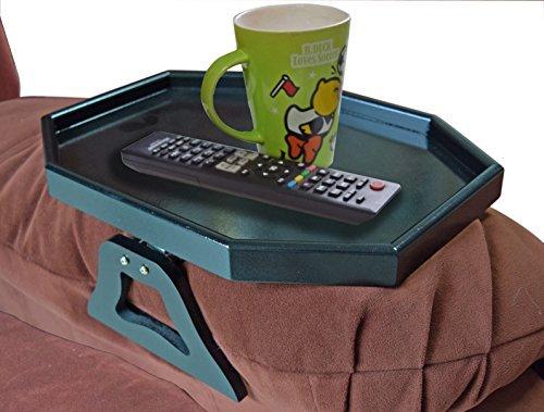 UTRAX Holz Sofa Armlehne Clip On Snack Tisch Holz Stuhl Armlehne Tablett Organizer Romote Caddy schwarz Schwarzer Caddy
