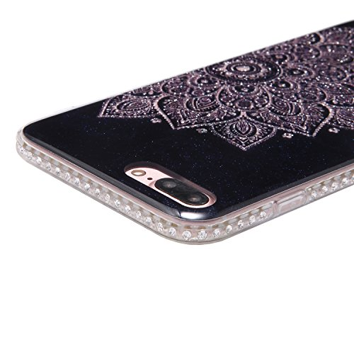 Custodia Cover per iPhone 7 Plus 5.5, JAWSEU Ultra Slim Morbida Soft Custodia Cover Case per iPhone 7 Plus in Gel TPU Silicone Cristallo di lusso di Bling di scintillio lucido Diamante Scintilla per i Totem #4