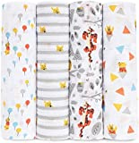 aden by aden + anais muslin swaddle blanket 4-pack- Winnie the Pooh (112 x 112cm)
