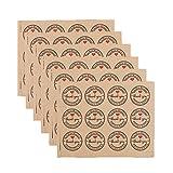 Hacoly 10 Stück Rund thank you Siegel Aufkleber Kraftpapier Aufklebern Geschenktüte Sticker für Weihnachten selbst gemachte Marmelade, Cupcakes, Muffins, Backen, Geschenke Geschenkver packungen