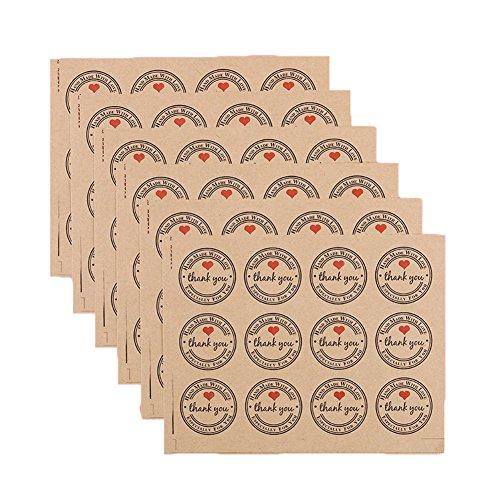 Dosige Pegatinas Kraft Paper Sealing