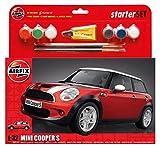 Airfix Mini Cooper S Starter Set Plastik Fahrzeug Modellbau Bausatz, Red