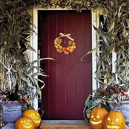 Wankd-Herbst-KranzThanksgiving-Herbst-Kranz-Bell-Ahorn-Krbis-Tr-Fenster-Weihnachten-Dekoration-Rattan-Ring-hngen