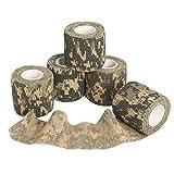 6Rolle /Set Outdoor Camouflage Klebeband OUTERDO selbsthaftende nichtgewebte und teleskopische Klebeband fur Tarnung von der Jagd Camping und Radfahren ACU-Tarnung