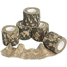 6rolle/Set Outdoor camuflaje cinta adhesiva outerdo selbsthaftende nichtgewebte y teleskopische cinta adhesiva Fur tarnung de la Caza Camping y ciclismo, ACU-Tarnung