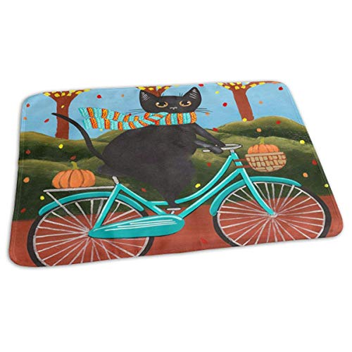 Autumn Fat Black Cat On A Bicycle Baby Diaper Urine Pad Mat Stylish Kids Baby Mattress Sheet for Any Places for Home Travel Bed Play Stroller Crib Car ()