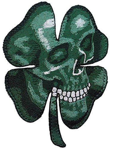 Trébol Calavera Clover Shamrock Camo Green Skull