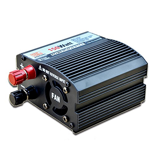 Preisvergleich Produktbild Huatuo 150W Power Inverter DC 12V to AC Outlet 220V Converter Power Supply with Cigarette Lighter Adapter in Car and Crocodile Clip for Battery