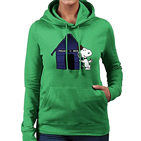 Dr Who Snoopy Tardis Kennel Women's Hooded Sweatshirt (Charlie Brown Weihnachts-tv-programm)
