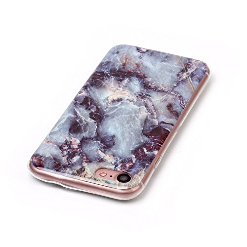 GR Apple IPhone 7 Plus Case Marbling Texture Soft TPU Cover Slim Ultra Thin Anti-Kratzer Schock Absorption schützende Rückseite Cover Shell ( Color : J ) L