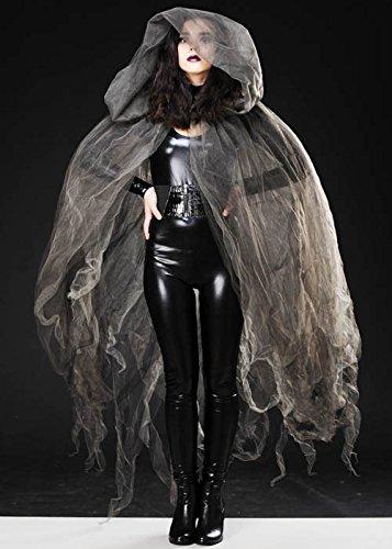 Halloween Gothic grau Tüll Net Sheer (Gothic Capes)