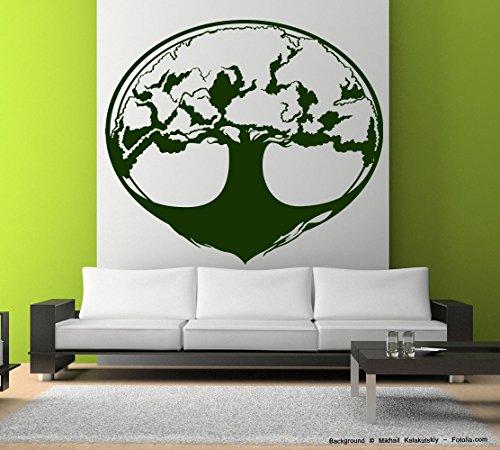 -Adesivo da parete albero della vita Tree, Vinile, Ortensia viola, 130,50 cm x 115,00 cm (Ortensia Albero)