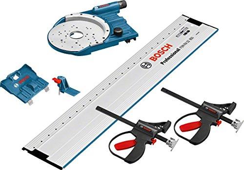 Bosch Professional FSN OFA 32 KIT 800 Führungsschienen Systempaket mit Lochraster, Führungsschienenadapter, 2 Klemmzwingen, Zusatzadapter, 1600A001T8